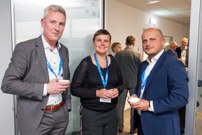 Rein Bryssinck (SAS), Elke Weyts (SAS), Murat Emre Kaya (European Investment Bank) ((Photo: Jan Hanrion / Maison Moderne))
