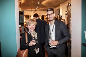 Sandrine Huitric (VAT Solutions) et Joakim Tellatin (Ersel) ((Photo: Jan Hanrion/Maison Moderne))
