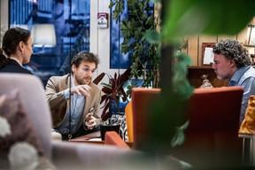 Jean-Louis Porcile (Quadram) et Ramon Hyndycz (Andreas Capital) ((Photo: Jan Hanrion / Maison Moderne))