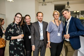 Justine Bousquet (Great place to work), Marie-Laure Valmain (Michael Page), Stéphane Compain (LuxRelo), Caroline Lamboley (Lamboley executive search) et Thierry Krombach (DSK Systems) ((Photo: Jan Hanrion / Maison Moderne))