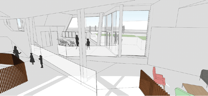Inside, the space is generously designed and very open. Illustration: Besch da Costa Architects