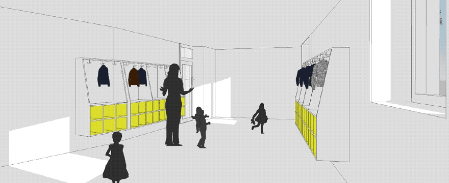 The children will have furniture adapted to their age.  Illustration: Besch da Costa Architects