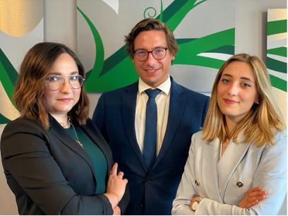 Oksana Sisterhenn, Manager, Ryan Davis, Associate Partner, and Anna Maria De Santo, Consultant at Avantage Reply Luxembourg. (Photo: Avantage Reply Luxembourg)