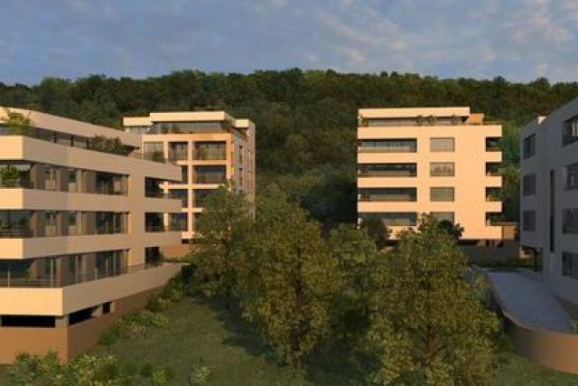 Le projet, à quelques minutes du centre-ville, comprend 170 appartements, répartis dans 14 immeubles. (Visuel: Green Hill)