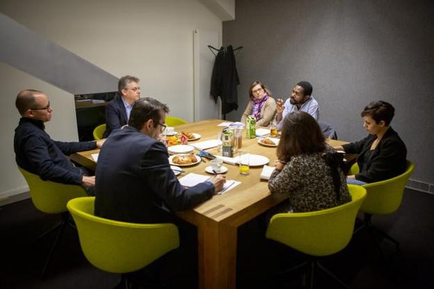 Muriel Bouchet et Michel-Edouard Ruben ont rendu visite à la rédaction de Paperjam. (Photo: Patricia Pitsch / Maison Moderne)
