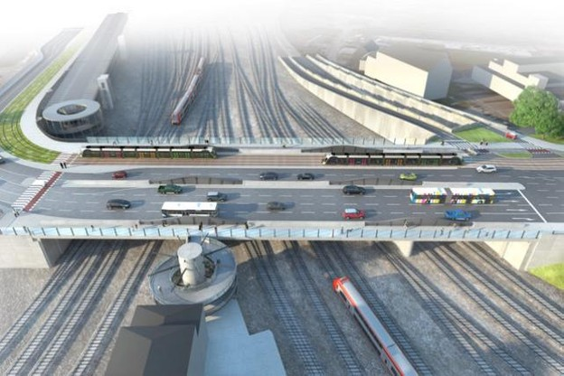 Le pont Buchler tel qu'il sera en 2020, après ses travaux d'agrandissement. (Photo: illustration ministère de la Mobilité)