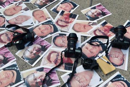 Sur les 65 journalistes tués en 2017, 58 l'ont été dans leur pays d'origine, indique RSF dans son rapport annuel. (Photo: Reporters sans frontières)