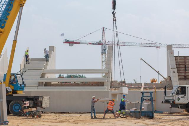 La fin du chantier est prévue pour janvier 2019. (Photo: Matic Zorman)