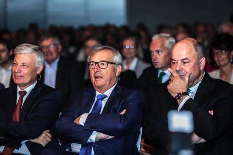 Claude Wiseler, Jean-Claude Juncker et Marc Spautz en octobre 2016. Les trois hommes forts du CSV se reverront-ils plus souvent après 2019? (Photo: Sabino Parente)