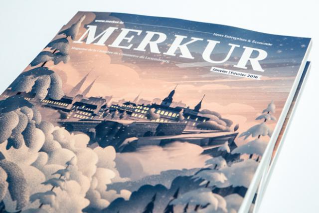 Le magazine de la Chambre de commerce évolue visuellement avec un nouveau concept d'illustration sur la couverture, signé par l'américain Brian Miller. (Photos: Maison Moderne Studio)