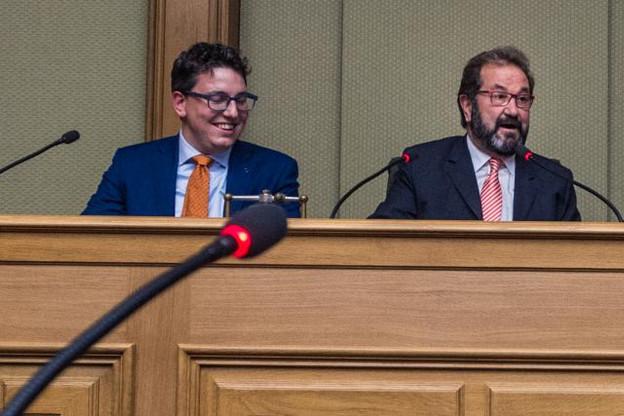 Sven Clement, président des Piraten, et Gast Gibéryen, membre fondateur de l'ADR, bénéficient d'une plate-forme commune pour peser plus lors de cette législature. (Photo: Mike Zenari / archives)