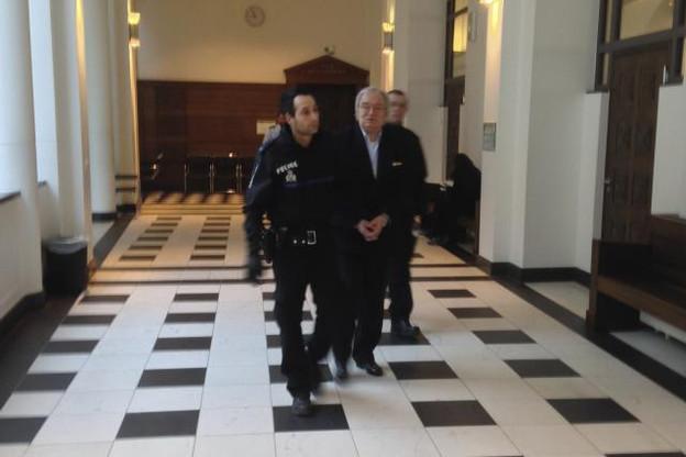 Charles Ewert arrivant à son procès en 2014. (Photo: DR)