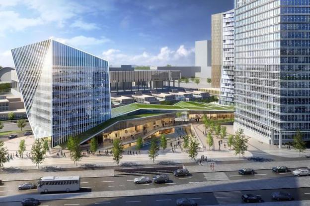 L'immeuble de bureaux sera adossé au centre commercial. (Photo: Immobel Luxembourg)