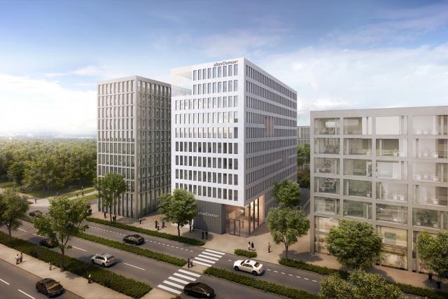 Situé le long du boulevard Raiffeisen, le nouveau bâtiment d'Alter Domus rassemblera les 550 employés du cabinet au Luxembourg, actuellement répartis sur deux sites. (Photo: Alter Domus)
