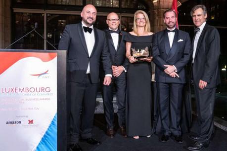 C'est la première fois depuis sa création, en 1999, qu'une société de services reçoit ce prix. (Photo: gouvernement.lu)