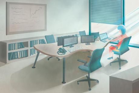 Concevoir des lieux adaptés à tous les besoins des employés, à la fois professionnels et sociaux, mais aussi d'optimiser les mètres carrés. (Illustrations: Hadi Saadaldeen/Maison Moderne)