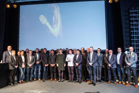Parmi les 12 finalistes retenus, c'est finalement la société Annen qui a été récompensée, pour son système en bois de construction sans vis ni clou et réutilisable sur différentes constructions. (Photo: Chambre des Métiers)