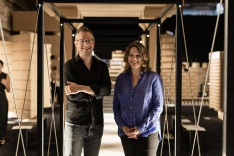 Florian Hertweck et Andrea Rumpf tirent un bilan très positif de l'exposition «The Architecture of the Common Ground». (Photo: LUCA Luxembourg Center for Architecture / Alberto Sinigaglia - OpFot)