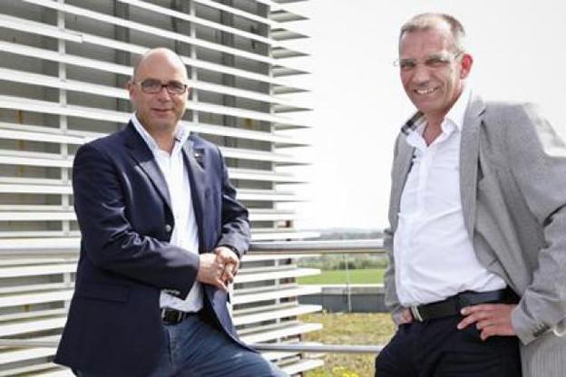 Romain Poulles et Roland Streber (PROnewtech) (Photo: Olivier Minaire)