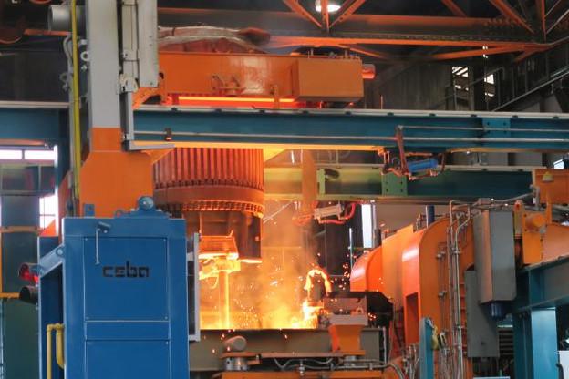 Sept millions d'euros ont été investis dans le cadre d'un projet pilote autour de cette machine de coulée continue. (Photo: ArcelorMittal)