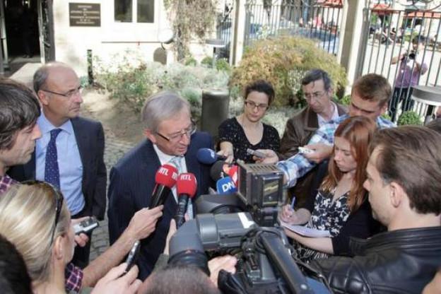 Les déclarations publiques du Premier ministre ont fait réagir ArcelorMittal (à gauche, Michel Wurth). (Photo : Luc Deflorenne / archives)