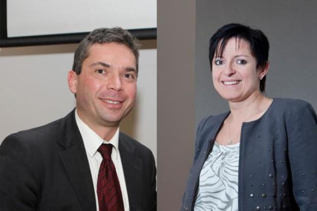 Serge Raucq, managing director de Learch et Edith Magyarics, CEO de VBS. (Phots: archives paperJam)