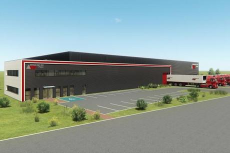 Le nouvel entrepôt d'Arthur Welter à Ennery, représentant un investissement de 1,8 million d'euros, devrait être opérationnel d'ici la fin août. (Photo: DR)