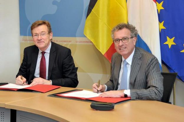 Les ministres belge et luxembourgeois ont conclu un accord amiable, précisé par une circulaire, pratique et détaillée. (Photo: MFIN/SIP)