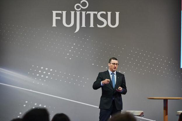 Duncan Tait, vice-président exécutif de Fujitsu responsable des zones Europe et Amériques, lors du Fujitsu Forum 2017, organisé à Munich en novembre dernier. (Photo: Fabian Frinzel / Archives)
