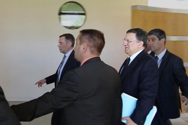 Barroso n'a pas traîné devant les caméras à son arrivée à la Cour de justice. (Photo: Maison Moderne Studio)