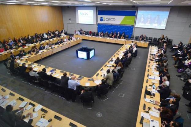 La troisième réunion du Forum mondial sur les prix de transfert à Paris, sous l'égide de l'OCDE. (Photo: OCDE)