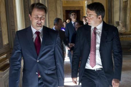 Xavier Bettel et Matteo Renzi, les deux chefs de gouvernement se sont rencontrés à Rome ce jeudi. (Photo: Tiberio Barchielli-Filippo Attili)