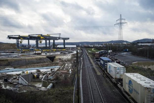Le futur terminal de CFL Multimodal à Bettembourg, d'une surface totale de 33 hectares, ouvrira en septembre 2016. (Photo: Mike Zenari)