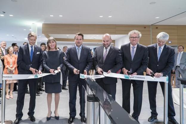 Outre Carlo Thill, Lydie Polfer, Xavier Bettel, Étienne Schneider et Pierre Gramegna étaient présents pour la cérémonie officielle lundi soir. (Photo: Eric Chenal)