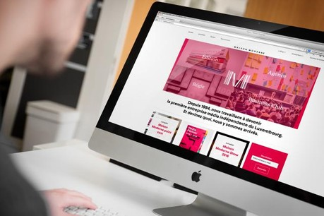 Le site internet de Maison Moderne arbore une nouvelle couleur: le rouge. (Photo: Maison Moderne Studio)