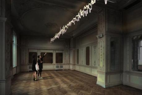 L'œuvre Zeitgeist - Karl Cobain de l'artiste Claudia Passeri prévue pour le futur café culinaire du Casino pourrait être en partie financée grâce aux dons. (Illustration: Claudia Passeri)