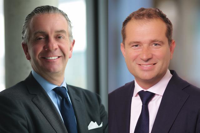 Bob Kneip, désormais président du conseil d'administration, a fondé sa société en 1993. Lee Godfrey, à bord depuis 2008, devient le nouveau CEO.   (Photos: Kneip)