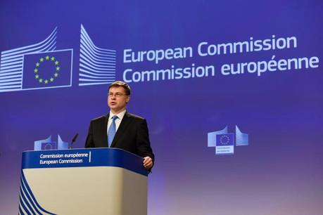 Mercredi, le vice-président de la Commission, Valdis Dombrovskis, doit présenter une mouture révisée de l'Edis, susceptible de lever les nombreux blocages actuels. (Photo: Commission Européenne)