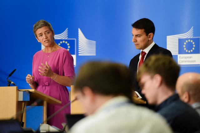 Initiée en février 2017, l'enquête des services de la concurrence a bénéficié de l'aide des firmes incriminées qui disposent d'une réduction de moitié de l'amende, a précisé mardi la commissaire Margrethe Vestager. (Photo: Union européenne)