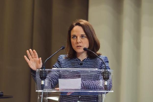 La présidente du DP depuis deux ans engage l'année2018 avec l'intention de séduire l'électorat de la fonction publique. (Photo : Sébastien Goossens / archives)