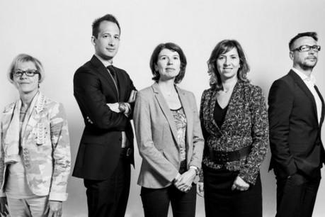 Anne Jacquemart, Édouard Housez, Frédérique Sine, Nathalie Delebois, Gilles Risser (Photo: Julien Becker)