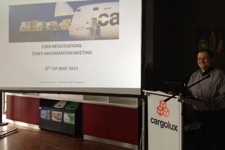 David Massaro est délégué du personnel de la compagnie de fret aérien, Cargolux. (Photo : OGBL)