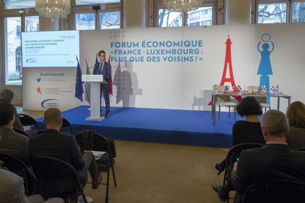 Carlo Thelen a vanté les mérites du Luxembourg via trois piliers: l'innovation, l'ouverture et la diversification.  (Photo: SIP)