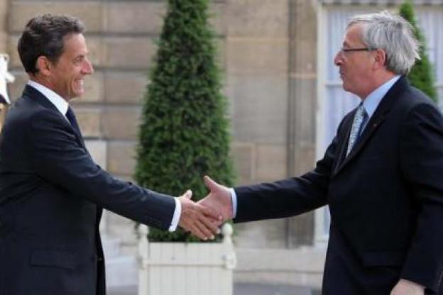 Nicolas Sarkozy et Jean-Claude Juncker se sont rencontrés ce lundi à l'Elysée. (Photo: Présidence de la République - L. Blevennec)