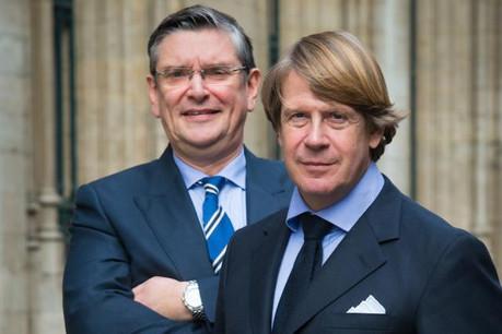 Marc Hoffmann (à droite) avec Xavier Rubbens, le branch manager de CBP Quilvest Belgium.  (Photo: Studio Dann)