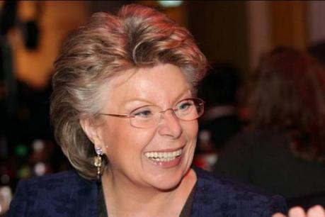 Viviane Reding, vice-présidente de la Commission européenne, ce vendredi sur paperJam.TV. (Photo : Luc Deflorenne/archives)