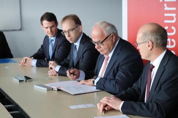 Le partenariat de recherche signé jeudi entre le SnT et Cebi s'étale sur une durée de quatre ans. (Photo: Université du Luxembourg)