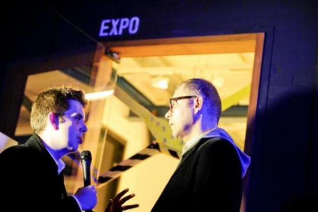 Raoul Thill (consultant indépendant) au micro de Vincent Ruck (paperJam Business Club) (Photo: David Laurent/Wide)