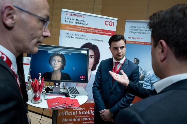 L'avatar Lia, développé au Luxembourg et ici présenté lors des Internet Days 2017, servira de vitrine pour montrer les opportunités offertes par les technologies utilisées par CGI, mais ne sera pas commercialisé en tant que tel. (Photo: Nader Ghavami / archives)