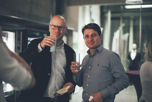 À droite, Yves-Laurent Kayan, CEO de CoinPlus. (Photo: paperJam/Archives)
